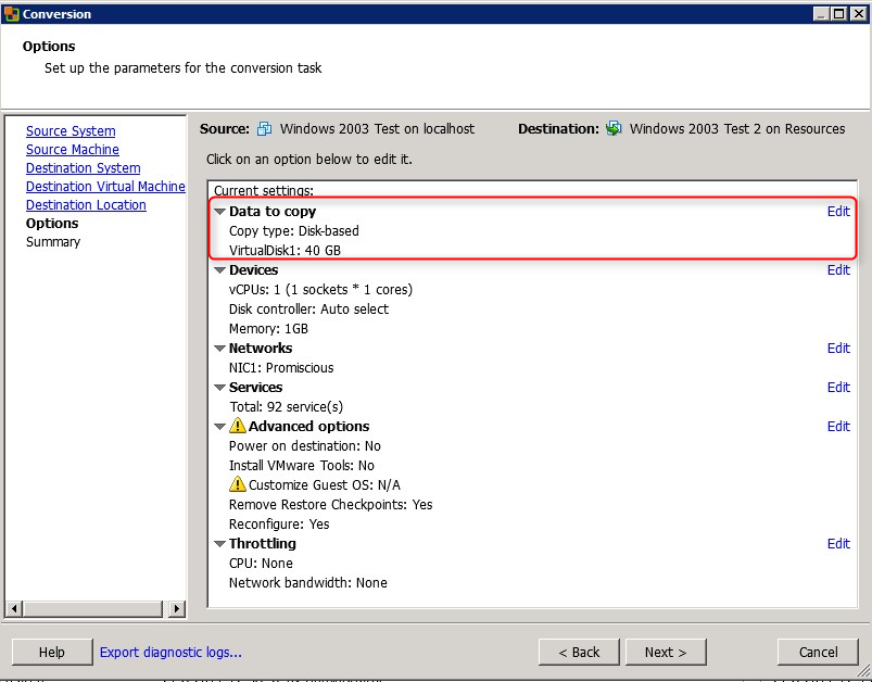 Optimize the disk(s) and partition(s) on your VM by using