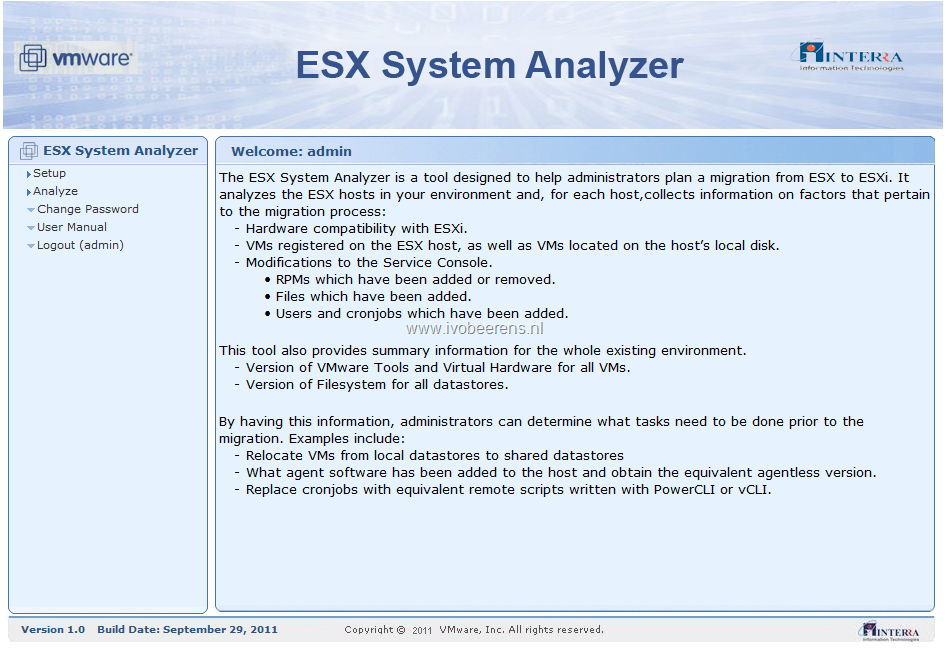 "Migrate to VMware ESXi? Use the ""ESX System Analyzer"" tool"