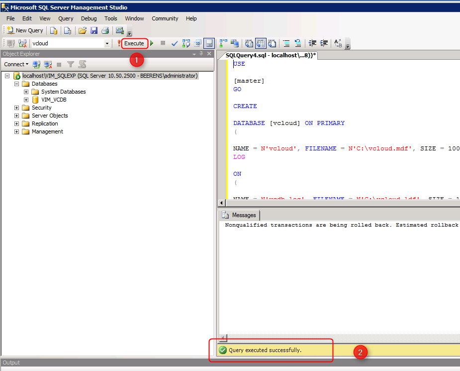 Configure SQL Server Express 2008 R2 instance to host the