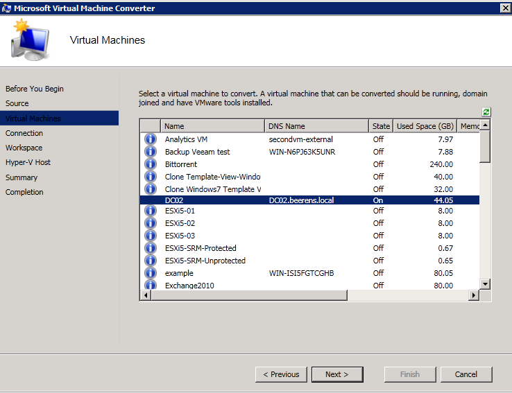 Convert VMware to Hyper-V VMs with Microsoft Virtual Machine