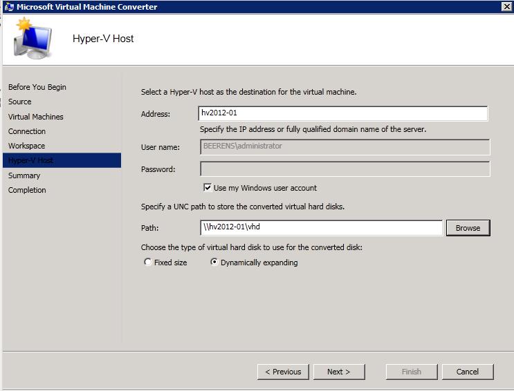 Convert VMware to Hyper-V VMs with Microsoft Virtual Machine