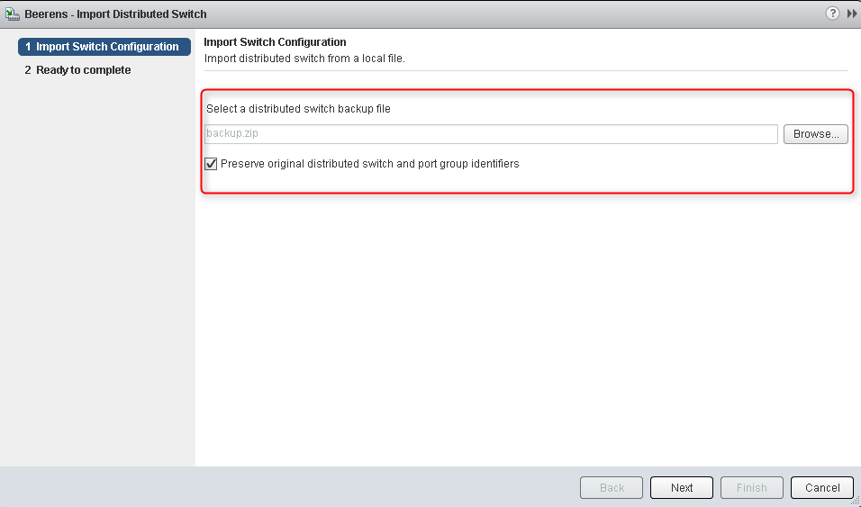 Migrate to a new vCenter server with the vSphere Distributed