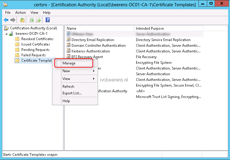 Create a signed certificate for vmware view connection servers select the web server template and choose duplicate template yelopaper Gallery