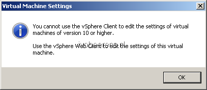 Watch out with Hardware Version 10 in VMware ESXi 5 5