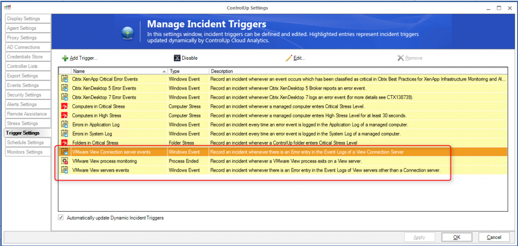 incident triggers