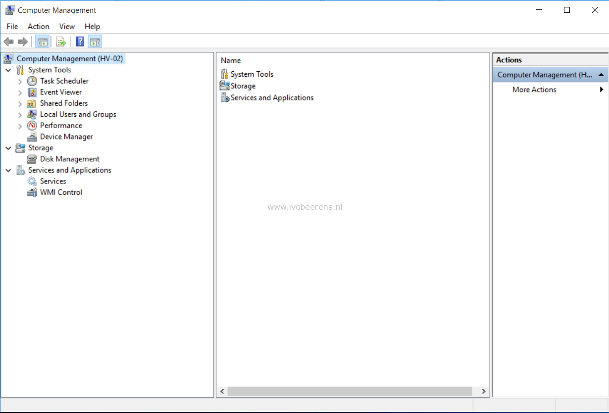 Manage Hyper-V in a workgroup remotely - ivobeerens nl