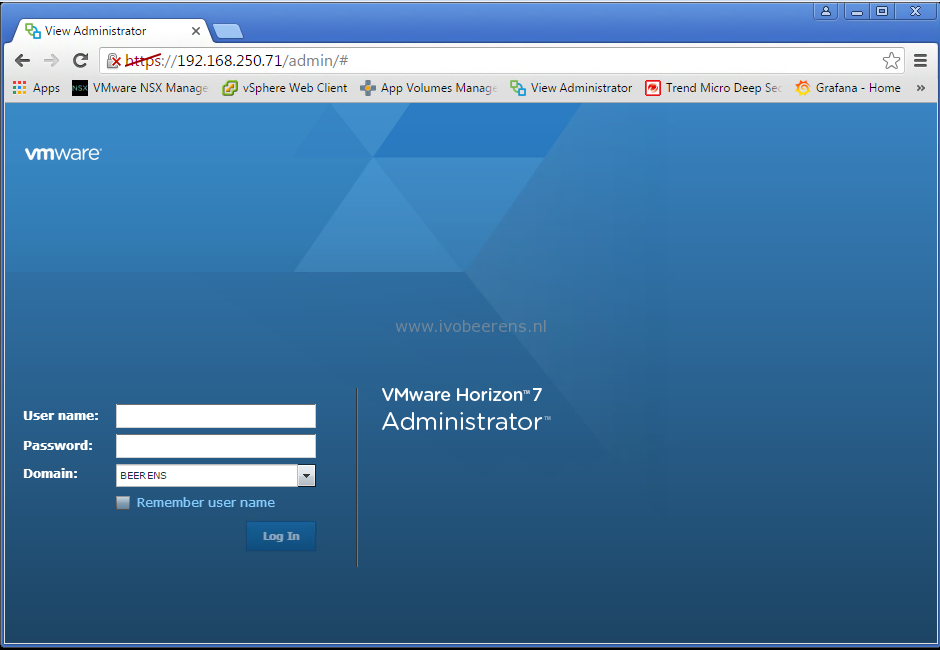 Horizon View Administrator displays a blank error window - ivobeerens nl
