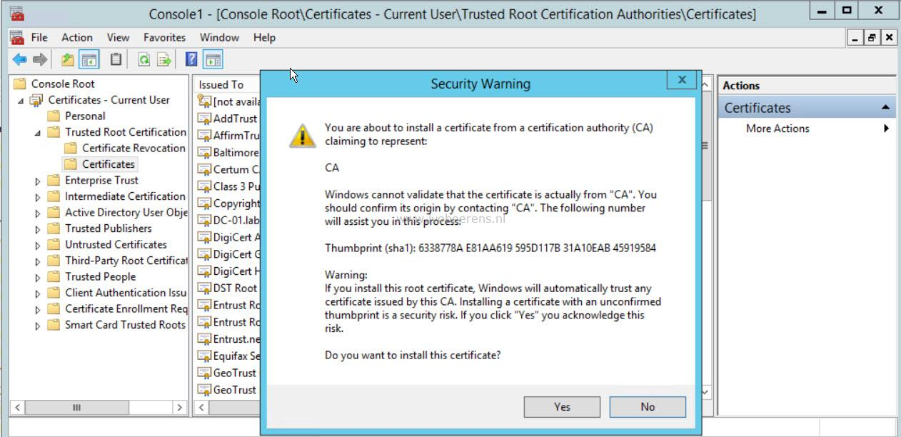 Deploy an OVA/OVF fails with certificate error - ivobeerens nl