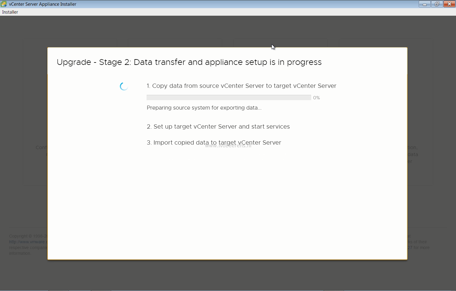 Upgrading a vCenter Server Appliance (VCSA) to version 6 7