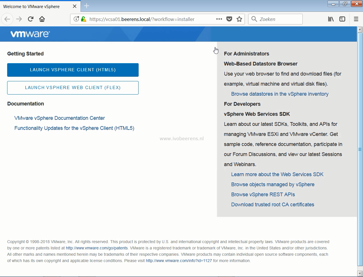 Upgrading a vCenter Server Appliance (VCSA) to version 6 7