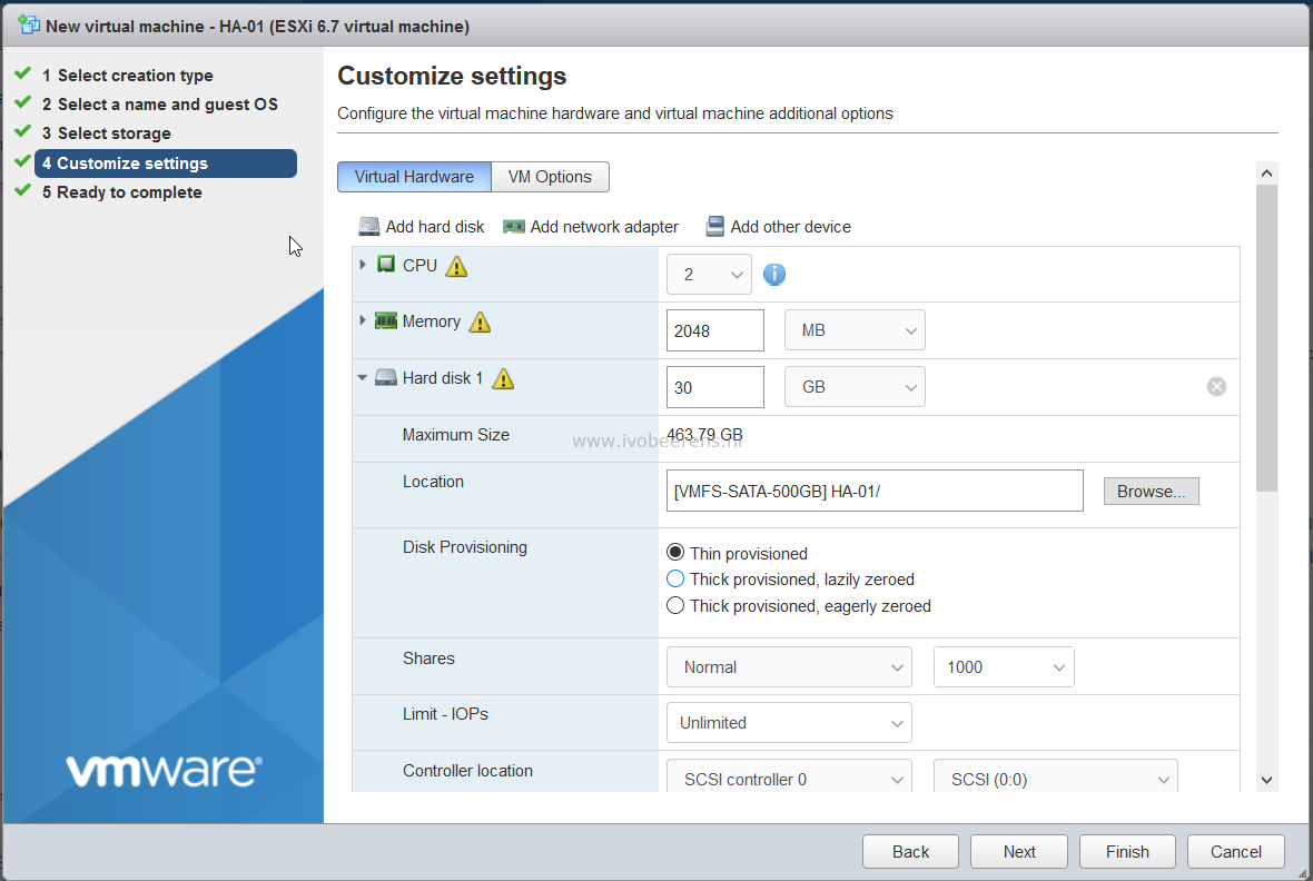 Install Home Assistant Hass io as Virtual Machine (VM) on VMware